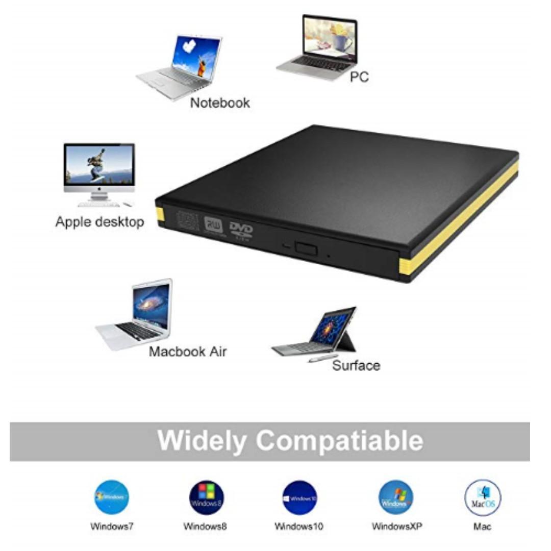 P15 External DVD Drive, USB 3 0 Cd Burner Drive Writer