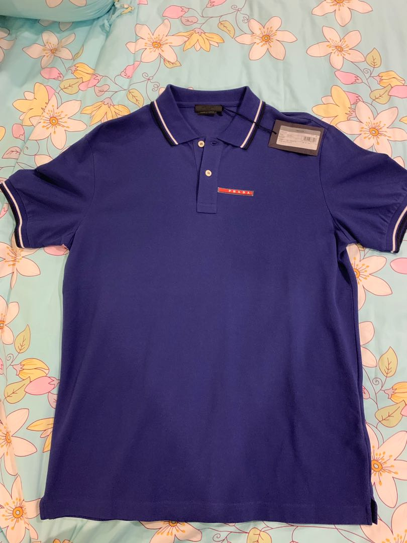 d7bcf3393 Prada polo tee, Men's Fashion, Clothes, Tops on Carousell