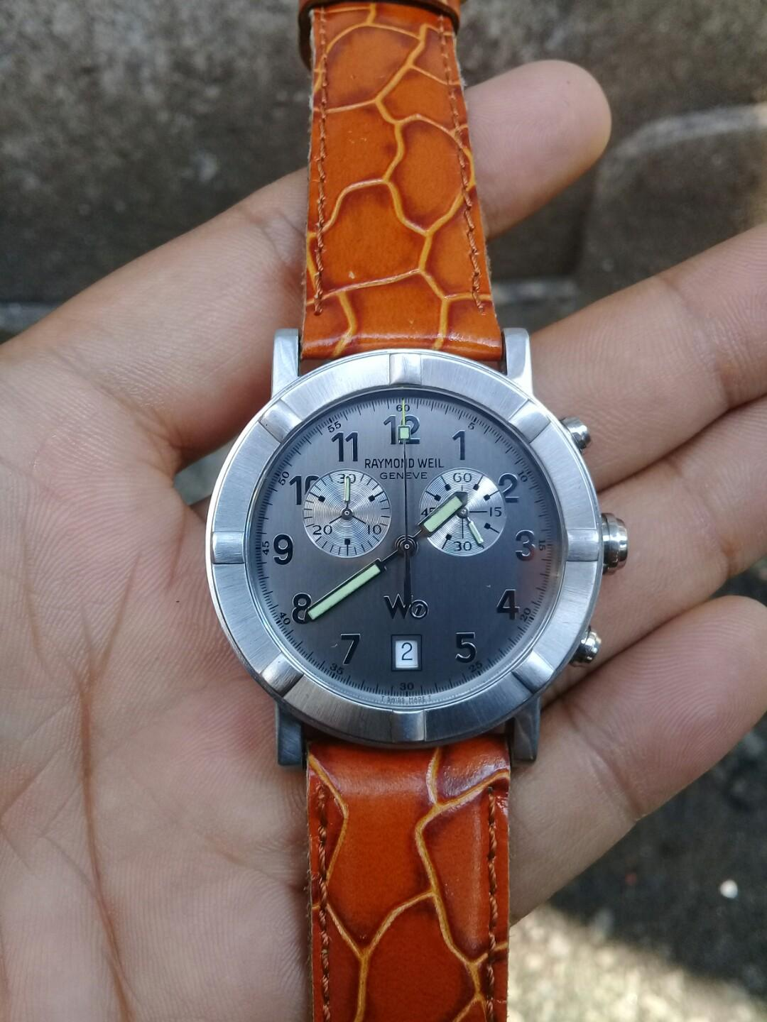 Raymond Weil W1 Parcifal Chronograph Swiss Made AUTHENTIC Men's Luxury