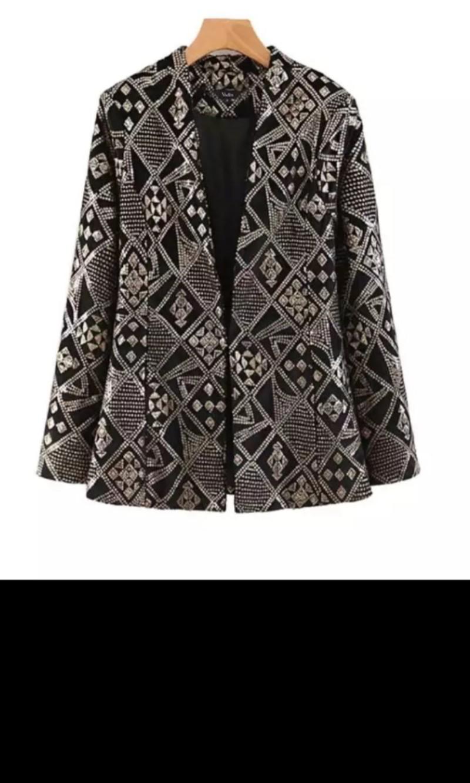 e3f81a51 Sequin Zara Inspired Sequin Jacket , Blazer, Luxury, Apparel ...