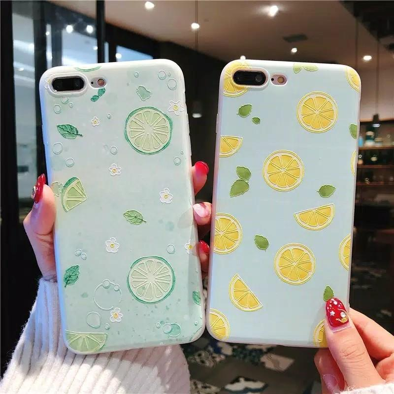 Soft Case Green Orange Apple Iphone 6/6s
