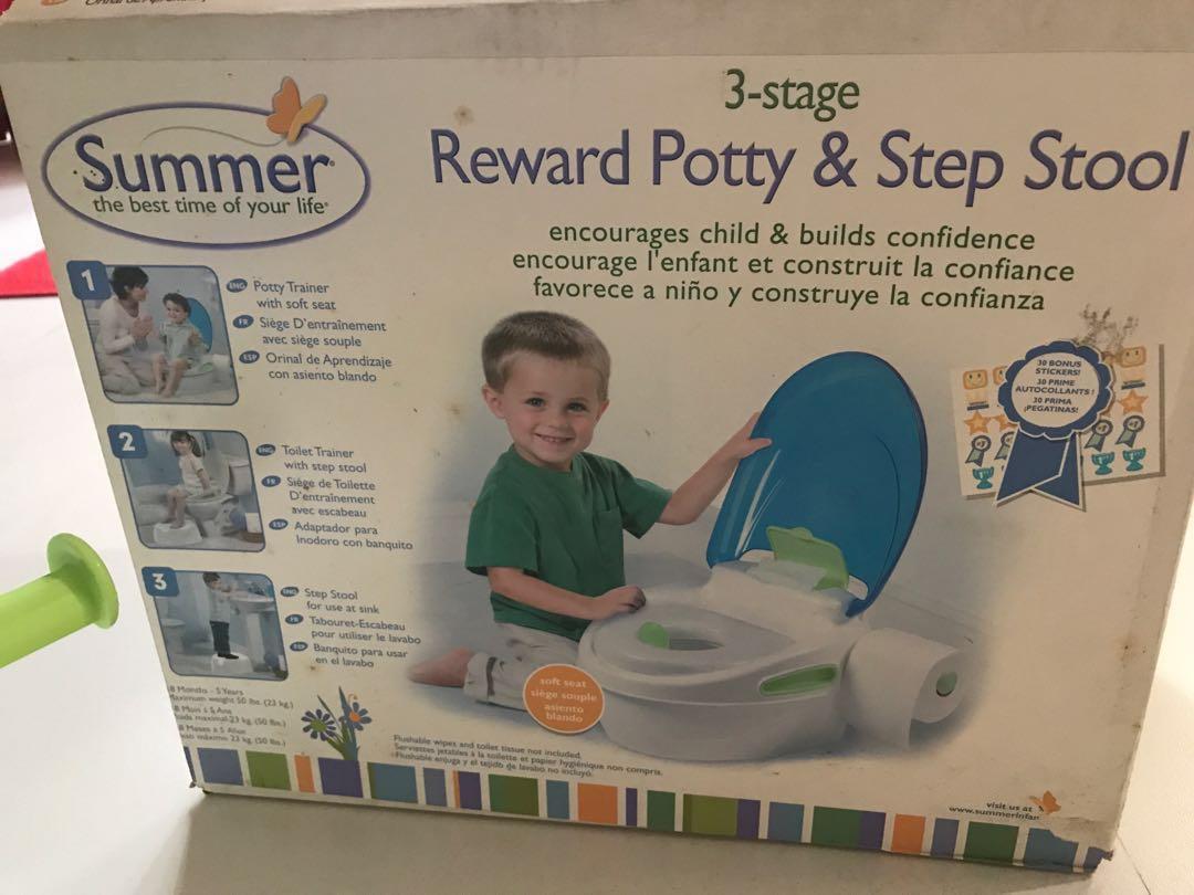 Summer reward potty and stel stool
