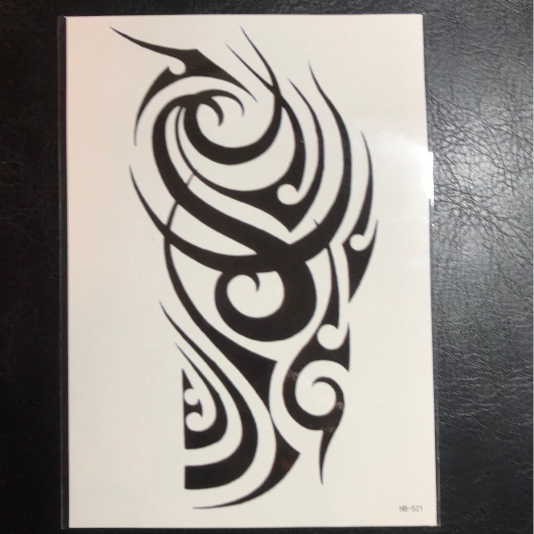 d27831ad8 Tribal Abstract Design Half Sleeve Temporary Tattoo Sticker, Health ...