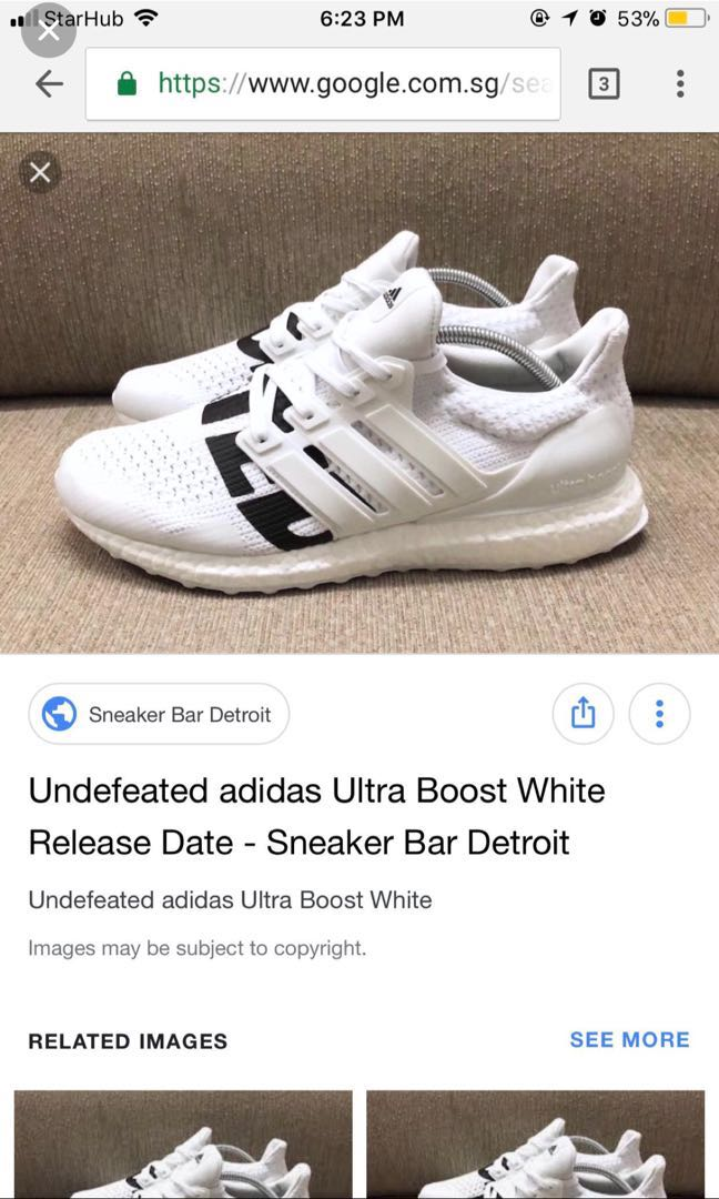 72e864dc7 Ultraboost Undefeated WHITE US10.5