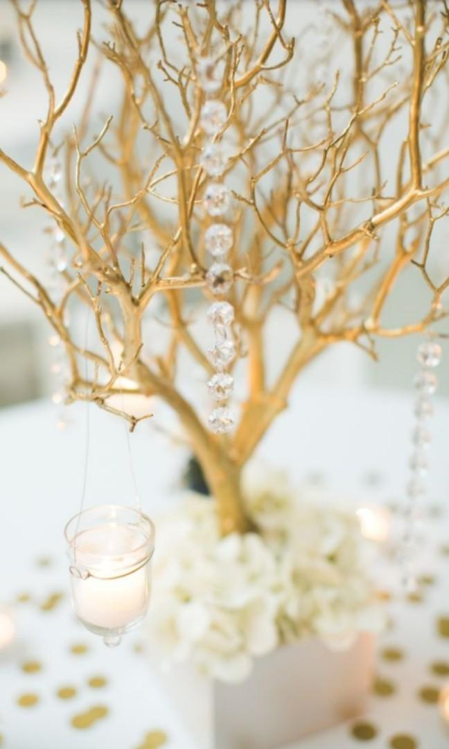 Versatile White Tree Branches For