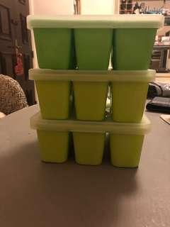 Weaning Purée Food storage containers