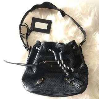 Balenciaga Agneau Perforated Bucket Bag