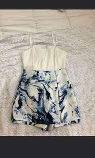 Jumpsuit blue white