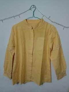 blouse yellow kotak2