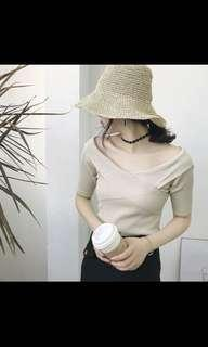 INSTOCK Ladies Ribbed Knit Overlap Criss Cross Wrap Knitted OL Wrapped TOP