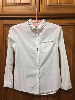 白色刺繡襯衫(小瑕疵)