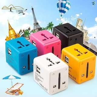 🚚 (NEW) Universal 21A Dual USB Plug Adapter Socket