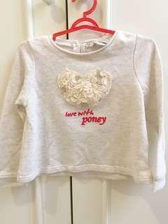 Baby Poney long sleeve top baju anak branded