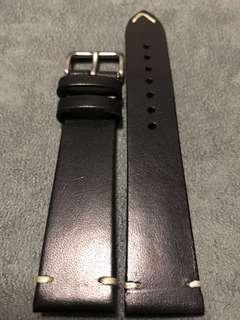 🚚 SALE 20mm Vintage Black Leather Watch Straps