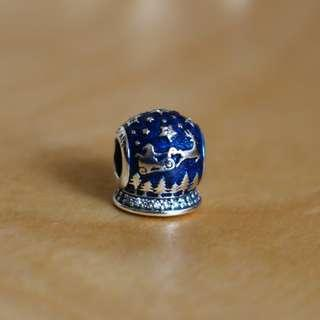 🚚 AUTHENTIC Pandora Christmas Night Charm [Sterling Silver 925 ALE With Clear Cubic Zirconia And Blue Enamel]