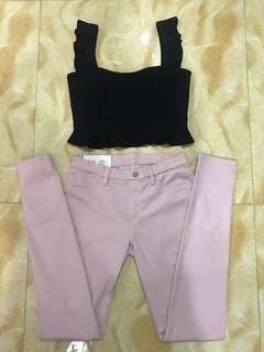 UNIQLO Pale Pink Jeggings