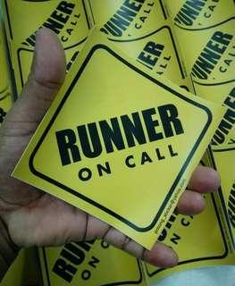 Sticker RUNNER ON CALL