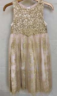 Monsoon (England) Gorgeous Gold Girls Party Dress