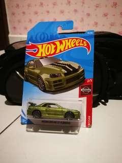 Hotwheels Nissan skyline r34