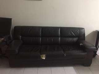 GOOD CONDITION! Sofa 3 Seater | DARK BROWN COLOUR