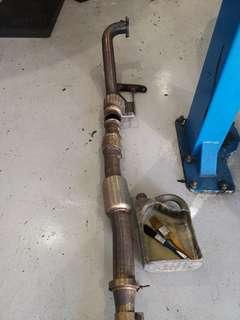 """VW Mk6 Golf R Unitronic 3"""" catted downpipe"""