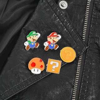 Cute Mario and Luigi Enamel Pin/Brooch