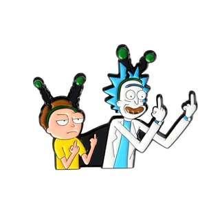 Rick And Morty Enamel Pin/Brooch