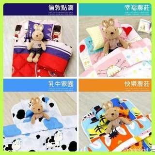 🇹🇼MIT 兒童三件組 睡墊(涼被 + 枕頭 + 睡墊) 小朋友最愛 幼兒必備 台灣製造 卡通圖案~可挑款(特價)