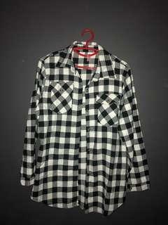 Flannel Checkered Sleeve Shirt