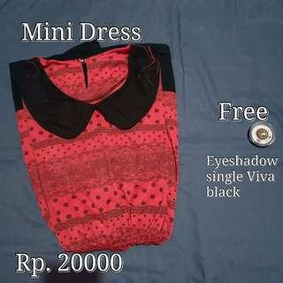 Mididress korea free eyeshadow single Viva black