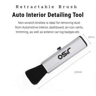 Retractable ABS, Synthetic Soft Nylon Auto Interior Detail Brush
