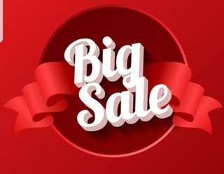 Sale on many household items