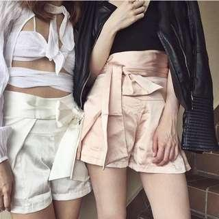 ❣️ EIGHTSLATE Talbot Bow Shorts in Blush, S