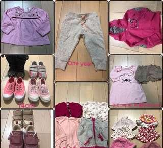 Bb 衫 鞋 外套 帽 共21個 items Ralph Lauren mother care cotton on hello kitty seed next le coq sportif