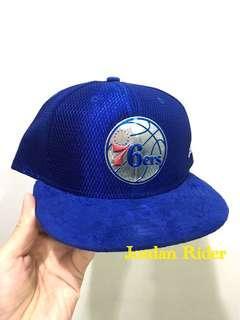 Jordan Rider 喬丹騎士 New Era NBA Philadelphia 76ers Phila 76ers 3M Logo Cap Hat 費城七六人 76人 藍色 全封棒球帽