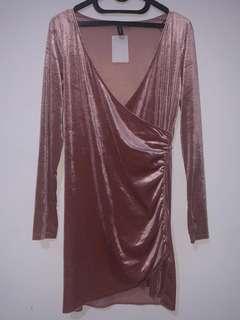 Dress Dust Pink Velvet