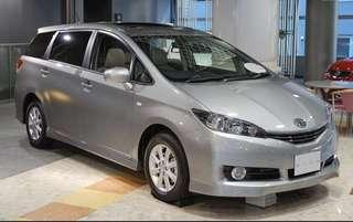 Cheap PHV Toyota wish 2.0A for rent