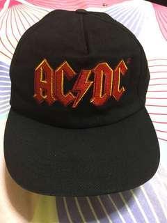 AC/DC Black Cap with Red Logo