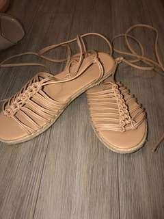 F21 lace up sandals