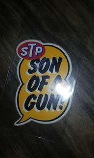 Original Stp son of a gun sticker
