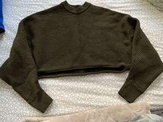 Aritzia Cropped Lolan Sweater XXS