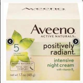 🇨🇦🇨🇦Aveeno Positively Radiant Intensive Night Cream 48ml
