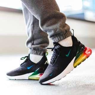 Nike Air max 270 SE Black Rainbow 黑彩虹 彩虹 氣墊鞋
