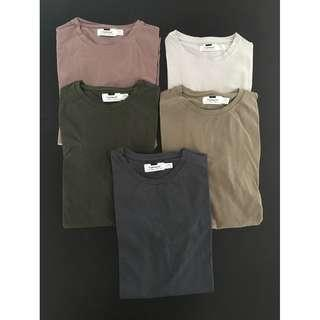 TOPMAN 5x Mens Ultra Muscle Fit Tees (Small)