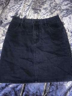 Dark Wash Wrangler Denim Skirt