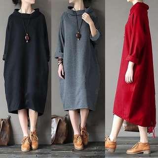 free pos Dress Womens casual vintage retro kaftan boho maxi dress