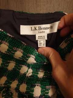 Lk Bennett green tweed skirt