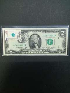 全新76年2元老美金首發日