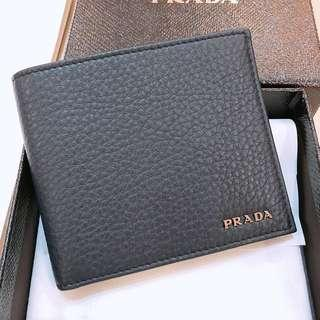 Prada 2MO513 Vitello Grain Baltico Color Men's Wallet
