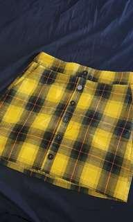 Rok korea, checkered skirt, skirt, baju pesta, baju korea